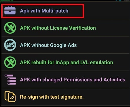 APK with Multi patch