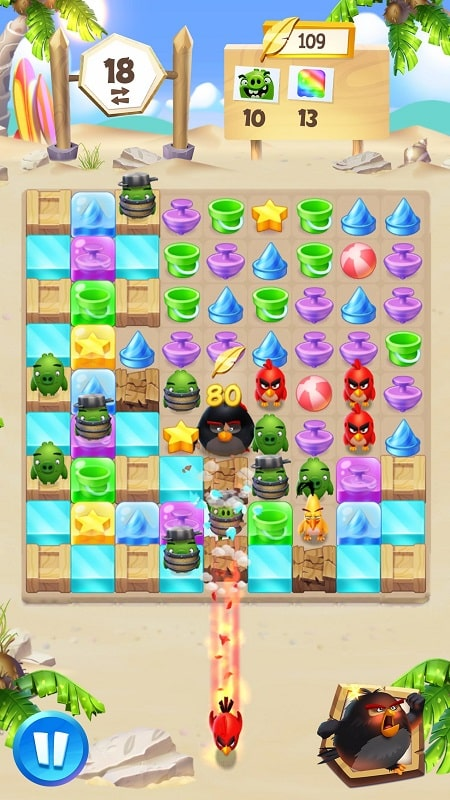 Angry Birds Match 3 mod android