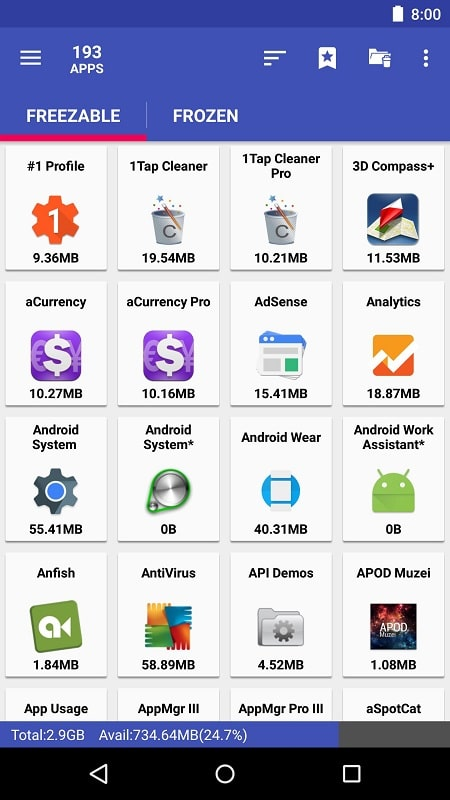 AppMgr Pro III mod free