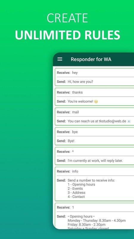 AutoResponder for WA mod android