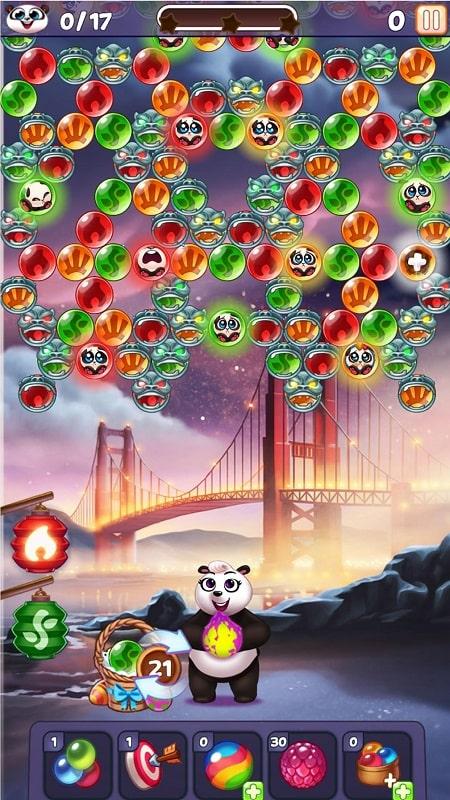 Bubble Shooter Panda Pop mod android