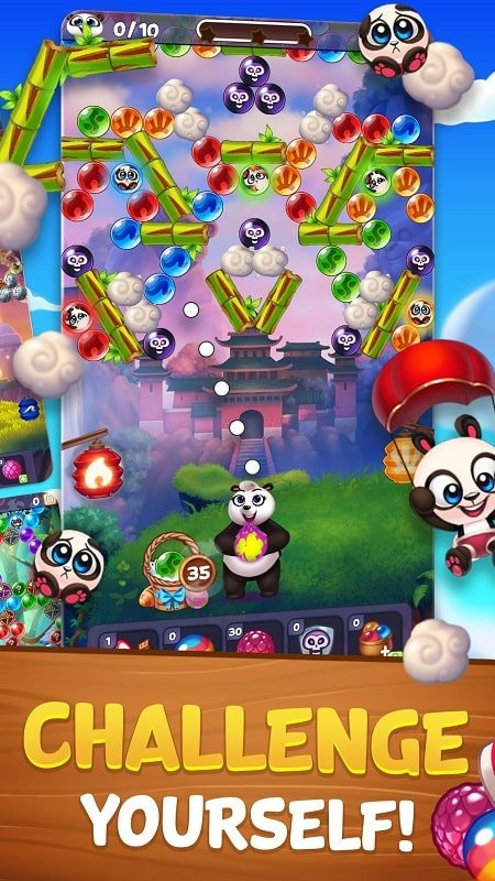 Bubble Shooter Panda Pop mod download