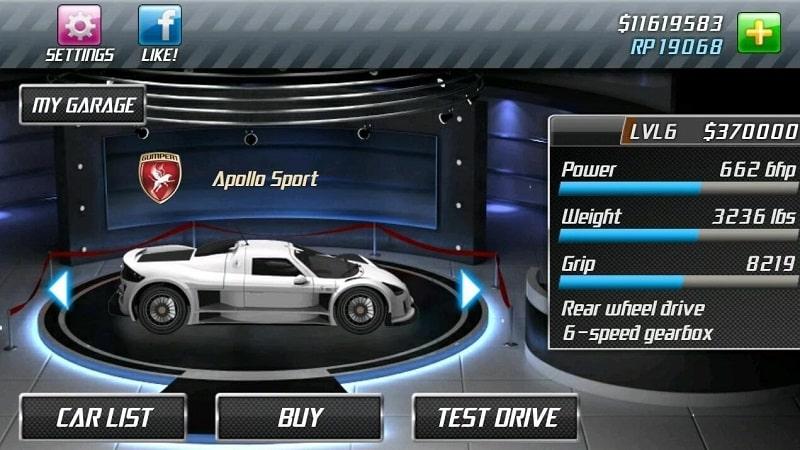 Drag Racing mod android