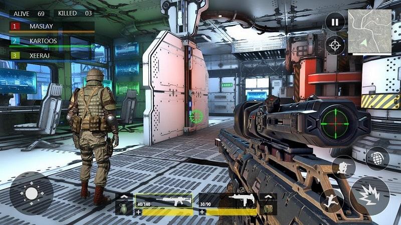 FPS War Modern Combat mod apk free