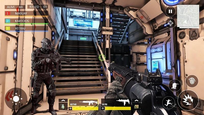 FPS War Modern Combat mod free