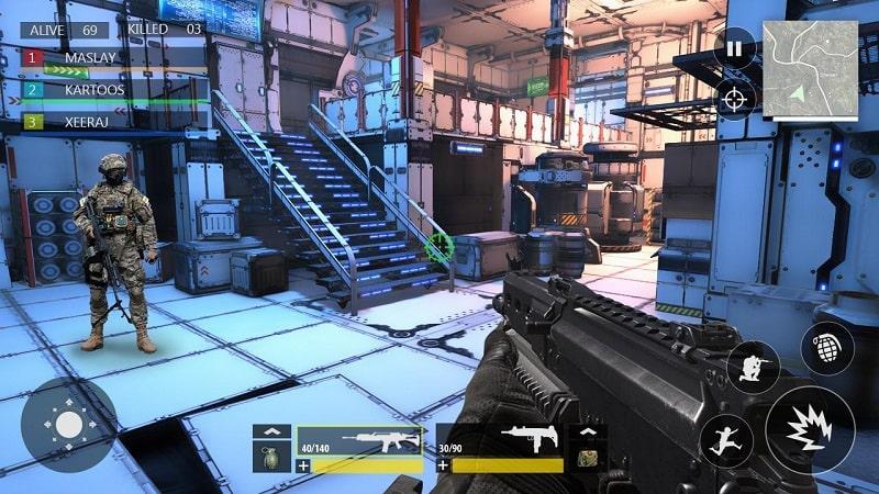 FPS War Modern Combat mod mod
