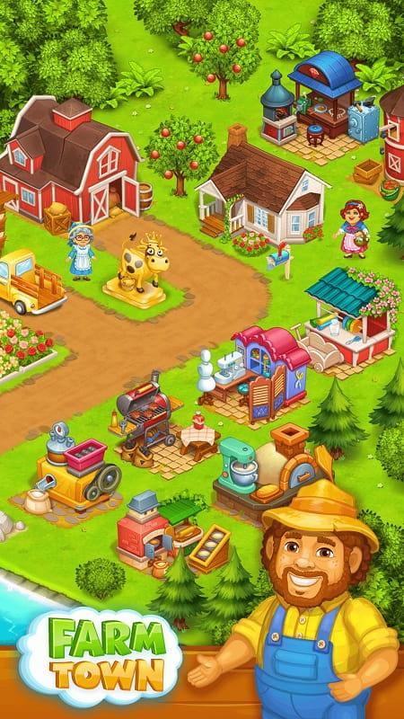 Farm Town mod download