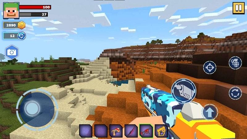 Fire Craft 3D Pixel World mod free