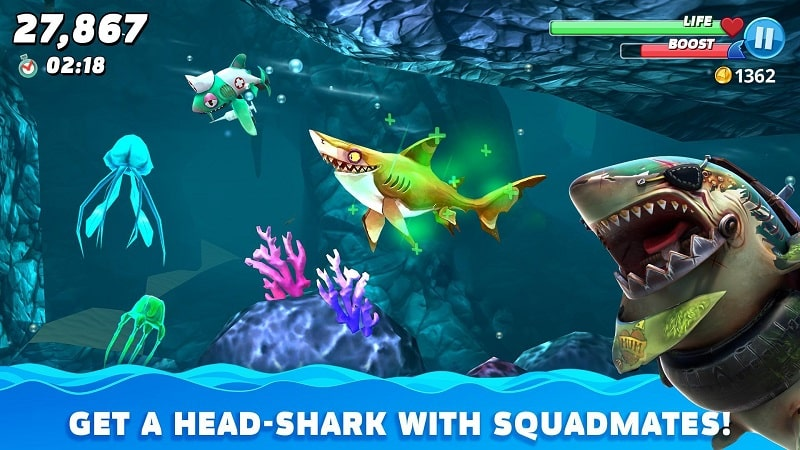 Hungry Shark World mod android
