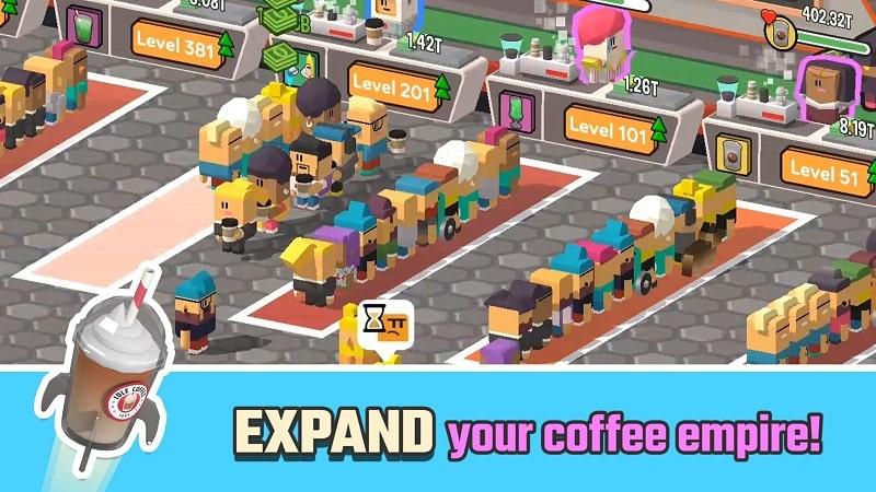 Idle Coffee Corp mod apk free