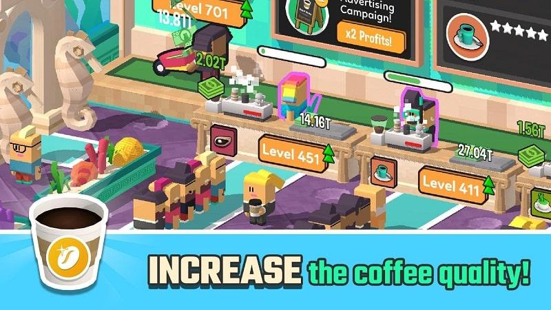Idle Coffee Corp mod free