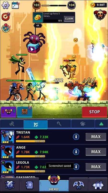 Idle Stickman Heroes mod android