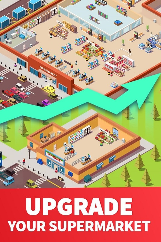 Idle Supermarket Tycoon mod download