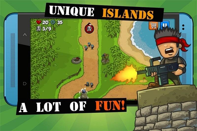 Island Defense mod free