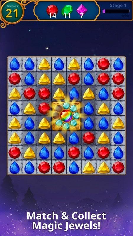 Jewels Magic Mystery Match3 mod download