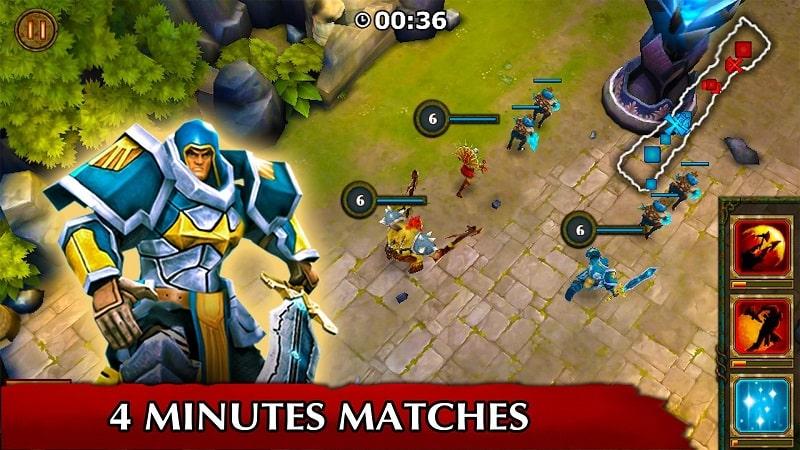 Legendary Heroes MOBA Offline mod free