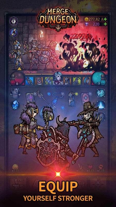 Merge Dungeon mod apk free