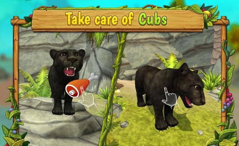 Panther Family Sim Online mod apk