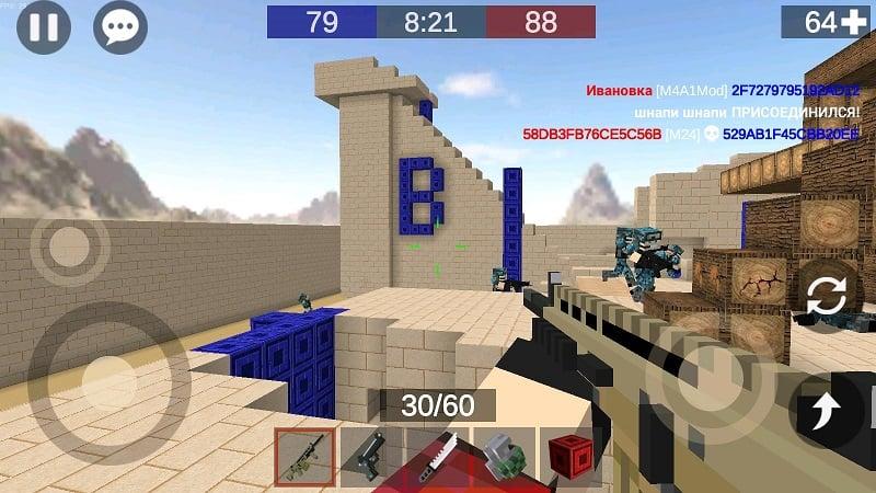 Pixel Combats 2 mod free
