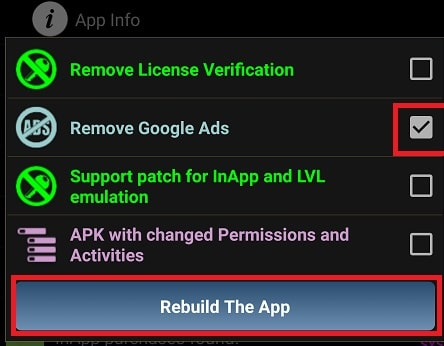 Remove Google Ads with Lucky Patcher