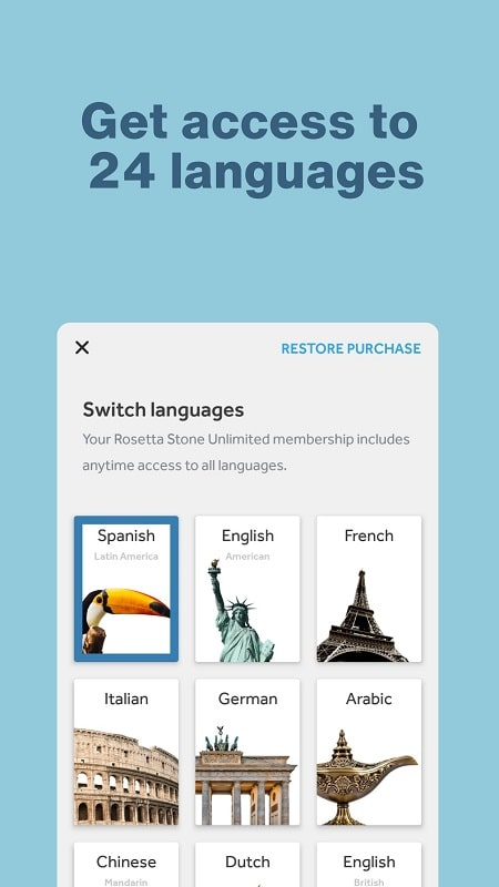 Rosetta Stone Learn Languages mod apk