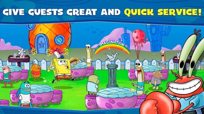 SpongeBob Krusty Cook Off mod android