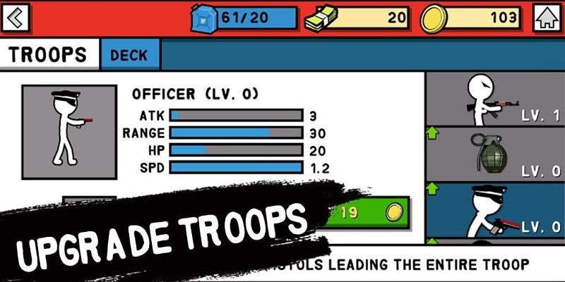 Stickman Army WWLF mod free