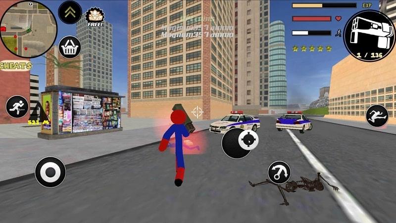 Stickman Spider Rope Hero mod free