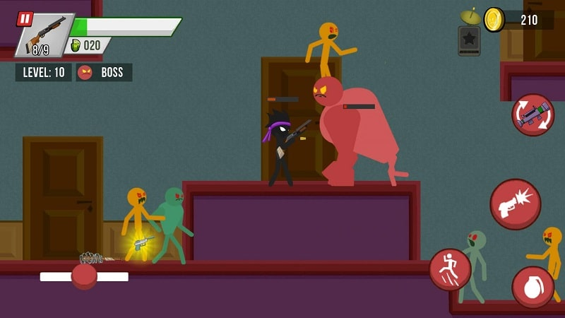 Stickman vs Zombies mod apk