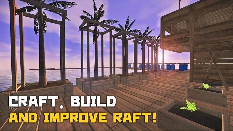 Survival on Raft Crafting in the Ocean mod
