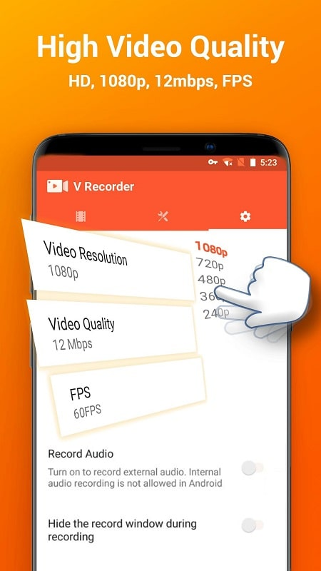 V Recorder mod android