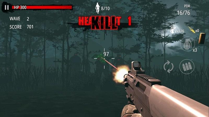 Zombie Hunter D Day mod apk free