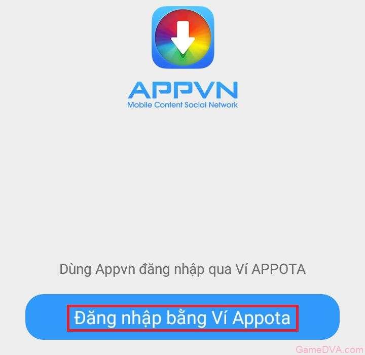Đăng nhập qua Appota