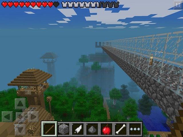Khung cảnh đẹp trong game Minecraft PE