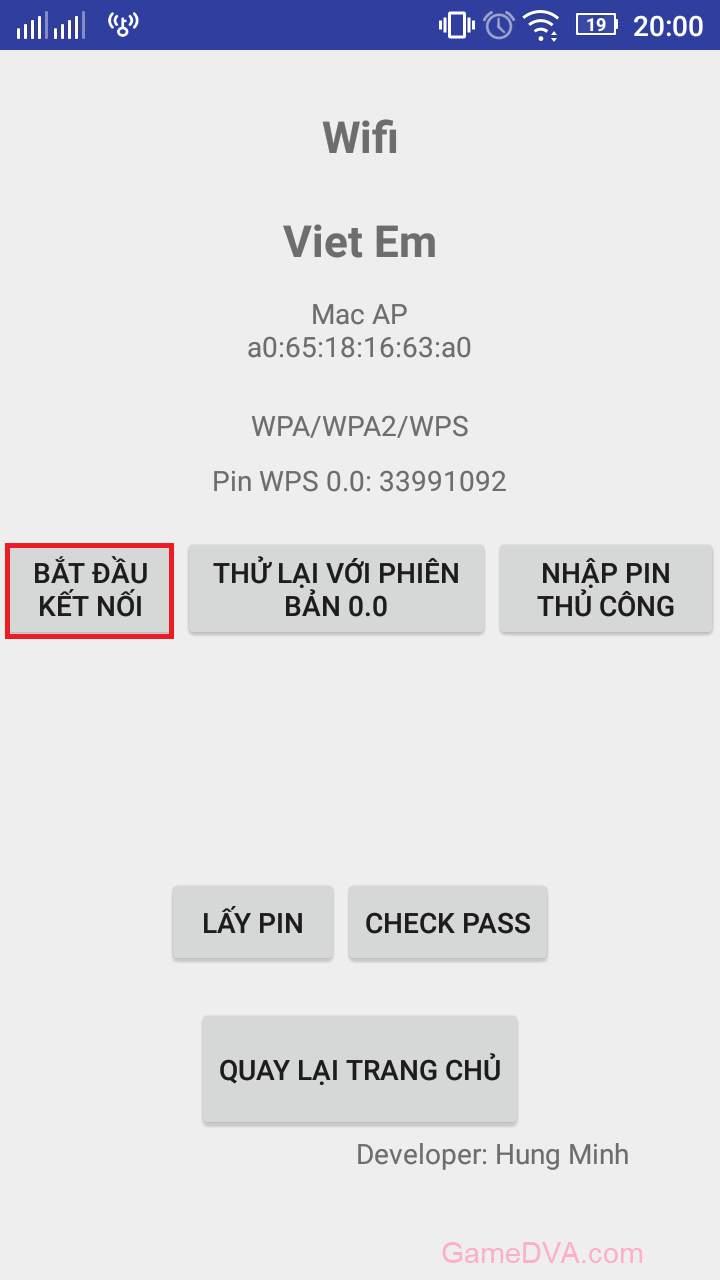 Kết nối ngay dựa trên WPS