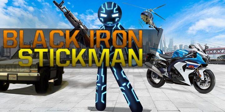 Black Stickman Rope Hero