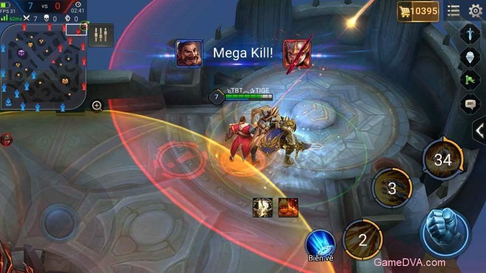Mega Kill ngay trong trụ chính đối phương