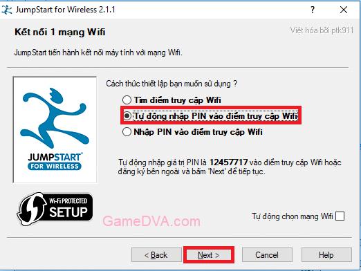 Mã PIN tự động xác nhận vào điểm truy cập Wifi