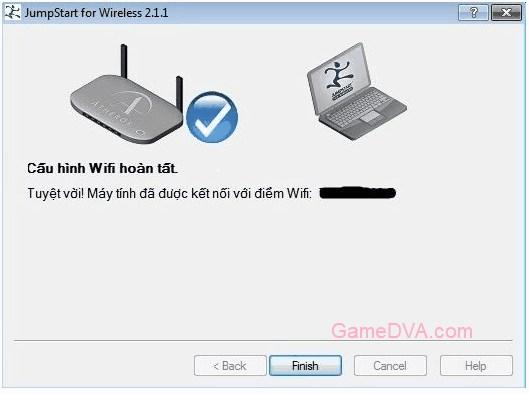 Cấu hình Wifi hoàn tất, kết nối thành công