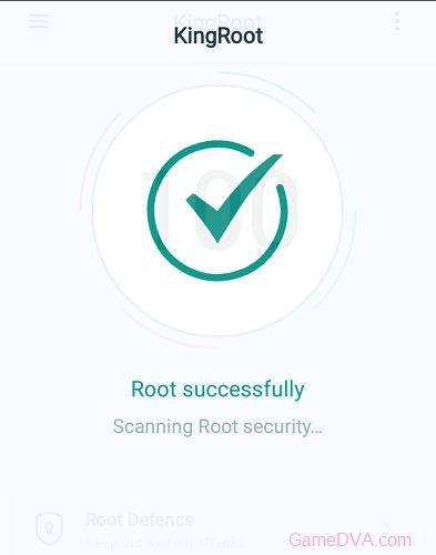 Thông báo Root thành công từ KingRoot