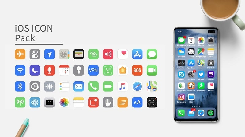 iOS Icon Pack mod